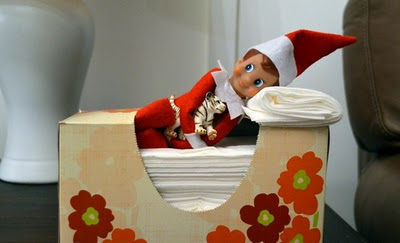 Simple Elf On The Shelf Ideas - Tissue Box Bed