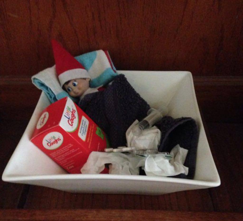 Easy Elf on the Shelf Ideas - Poorly Elf