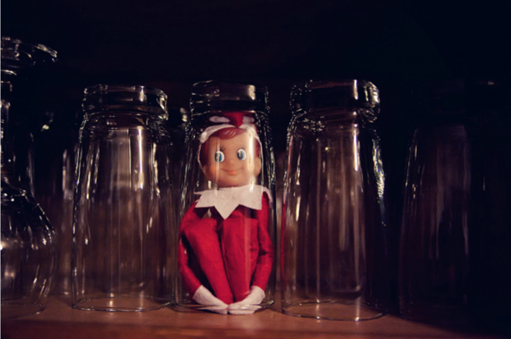 Easy Elf On THe Shelf Ideas - Elf in a Cup