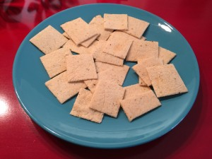 Healthy travel snack: almond crackers