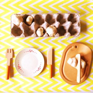 Playdough ideas: meal preparation