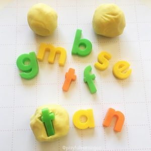 Playdough ideas: hidden letters