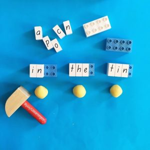 Playdough ideas: learn to spell
