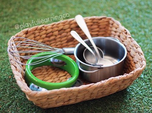 Treasure basket - simple play ideas for babies