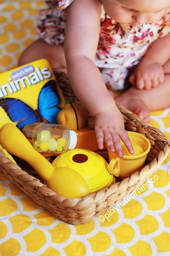 Treasure basket - simple play ideas for babies