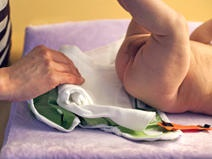 Simple steps for changing a cloth nappy