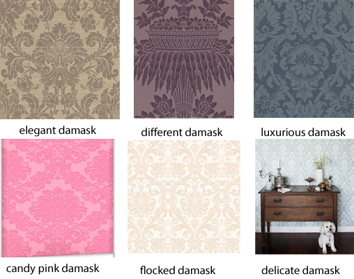 damask wallpaper inspiration