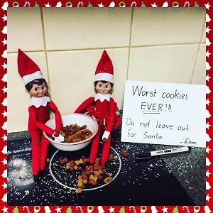 Elf on the shelf and some dodgy cookies