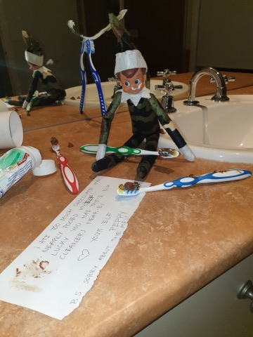 cheeky Elf on the Shelf bum cleaner