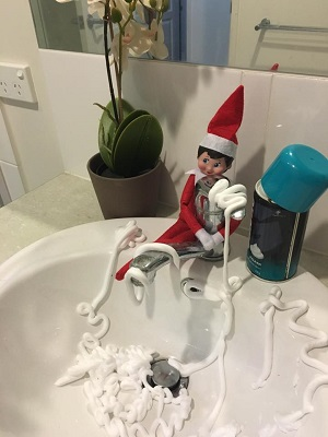 shaving mishap with the elf on the shelf