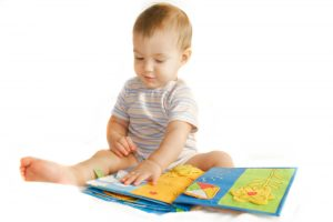 Baby Playtime - Baby Reading a Book