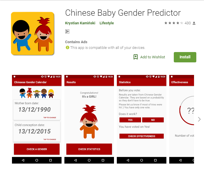 Chinese Gender Chart Baby Gender Prediction Chart