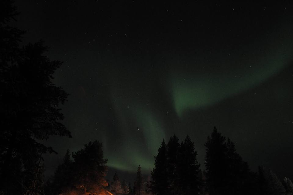 Northern Lights in Santa's Village