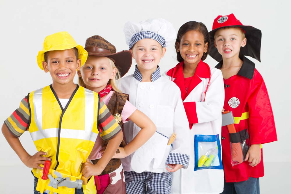 Children in fancy dress as different professions