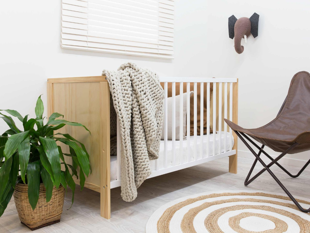 Designer nursery on a budget - Mocka nursery