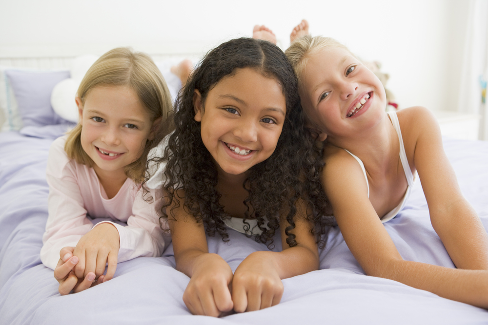 Right age kids sleepover