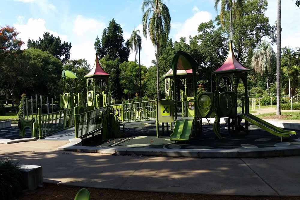 Toddler Friendly Brisbane Destination - City Botanical Gardens Playground