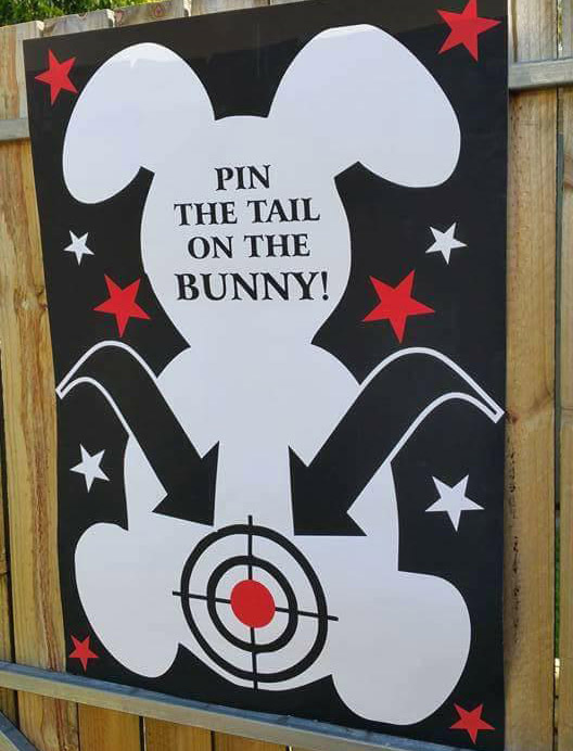 Pin the tale on the bunny
