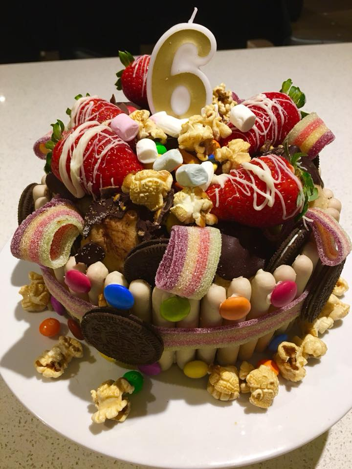 woolworths cakes 6th birthday strawberries chocolate