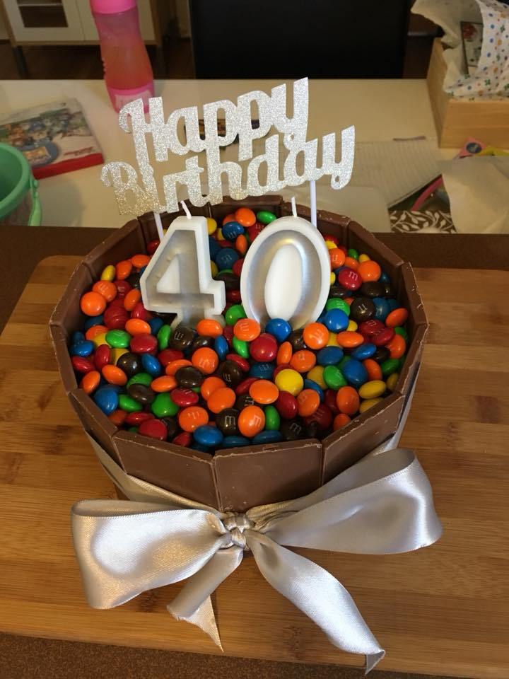 woolworths cakes mnms chocolate 40th