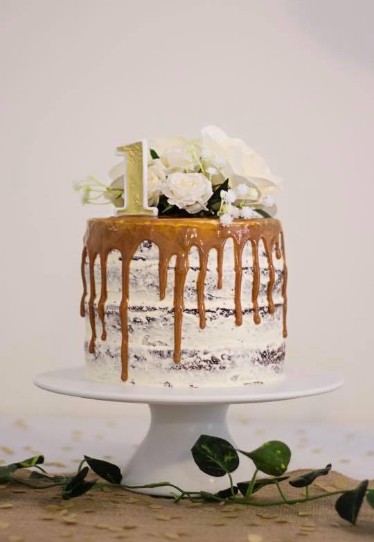 woolworths cake caramel naked birthday cake