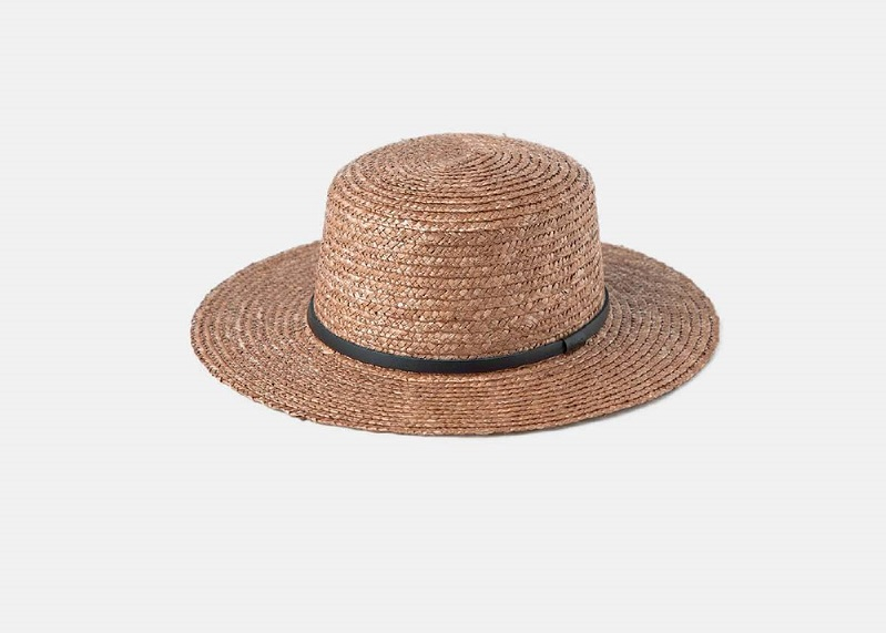 Harvey Amber Boater straw hat