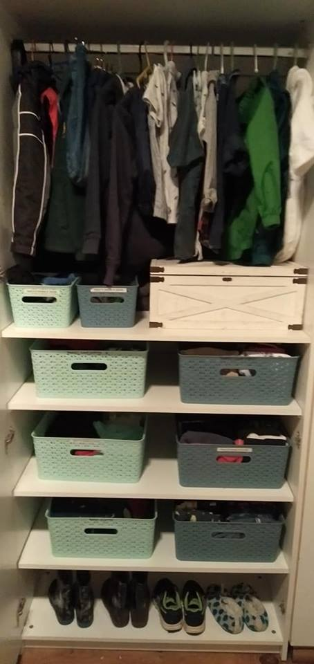 Kids clothes organisation hacks