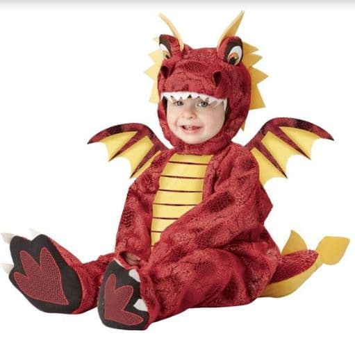 red dragon Halloween costume for babies