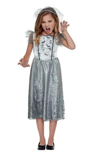 witch costume in grey